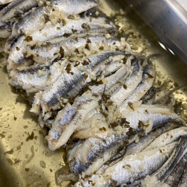 Anchois marinés à l'ail (150gr)